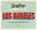 Vintage greetings from Los Angeles vacation card
