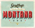 Vintage greetings from Montana Vacation Card Royalty Free Stock Photo
