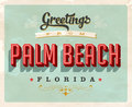 Vintage greetings from Palm Beach vacation card Royalty Free Stock Photo