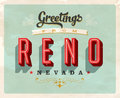 Vintage greetings from Reno vacation card