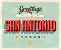 Vintage greetings from San Antonio vacation card