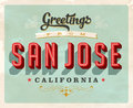 Vintage greetings from San Jose vacation card