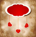 Vintage grunge background to a Valentine's Day Stock Images
