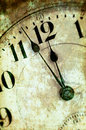 Vintage Grunge Clock Face Closeup Royalty Free Stock Photo