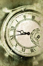 Vintage Grunge Clock Face Closeup Royalty Free Stock Photos