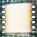 Vintage grunge film strip background scratched Stock Photography