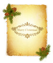 Vintage Grunge Paper With Christmas Greetings Royalty Free Stock Images