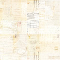 Vintage Grungy Antique Brown Collage Watercolor Background with Text Royalty Free Stock Photo