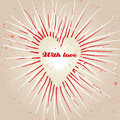 Vintage grungy heart background. Royalty Free Stock Photos