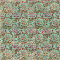 Vintage Grungy Rose Wallpaper Pattern with text Royalty Free Stock Photo