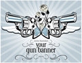Vintage gun label Royalty Free Stock Image