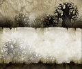 Vintage halloween background acrylic illustration of a with old paper texture Stock Image