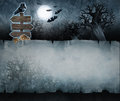 Vintage halloween background acrylic illustration of a with old paper texture Royalty Free Stock Images