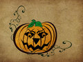Vintage halloween pumpkin background Royalty Free Stock Images