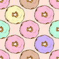 Vintage hand drawn donuts