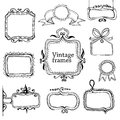 Vintage hand drawn frames collection eps Royalty Free Stock Photography