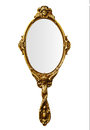 Vintage hand mirror include path Royalty Free Stock Photography