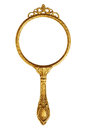 Vintage hand mirror isolated on white Royalty Free Stock Image