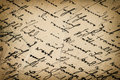 Vintage handwriting antique script paper background grunge with dark vignette Royalty Free Stock Photo