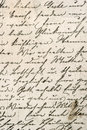 Vintage handwriting with a text in undefined language