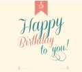 Vintage happy birthday typographical background Royalty Free Stock Photography