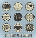Vintage Happy Fathers Day Labels and Icons Royalty Free Stock Photography