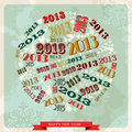 Vintage Happy New year 2013 bauble Royalty Free Stock Photo