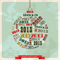Vintage Happy New year 2013 bauble Royalty Free Stock Image