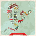 Vintage Happy New year 2013 concept snake Royalty Free Stock Photography