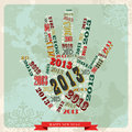 Vintage Happy New year 2013 hand Royalty Free Stock Image