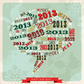 Vintage Happy New year 2013 social media bubble Stock Photography