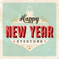 Vintage Happy New Year card Royalty Free Stock Photo