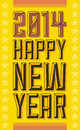 Vintage happy new year sign vector available Stock Photos
