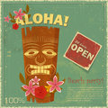 Vintage Hawaiian postcard Stock Images
