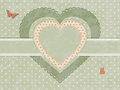 Vintage heart label Royalty Free Stock Photos