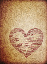 Vintage heart leather texure background Stock Photos