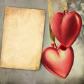Vintage hearts design Stock Photo