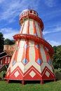 Vintage helter skelter fairground Royalty Free Stock Images