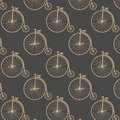 Vintage high wheeler seamless pattern Royalty Free Stock Photo