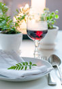 Vintage home dining table setting Stock Photography