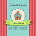 Vintage homemade cupcakes poster in vector format Stock Photo