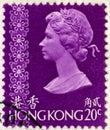Vintage Hong Kong Postage Stamp Royalty Free Stock Photo