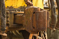 Vintage hook and link train coupling joint photo taken on march th Stock Photography