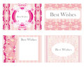 Vintage horizontal business cards set illustration Stock Photo