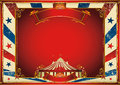 Vintage horizontal circus background with big top Stock Image
