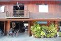 Vintage hotel at chiang khan Royalty Free Stock Photo