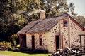 Vintage House Chimney Smoke Royalty Free Stock Photo