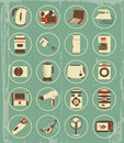 Vintage household appliances set of this is file of eps format Stock Photography