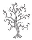 Vintage illustration of a tree art Stock Photos