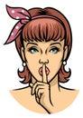 Vintage Illustration Woman Say...